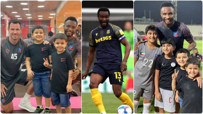 Super Eagles Mikel 'mobbed' by kids in his 1st training at new club where he'll be paid N1.6bn as salary