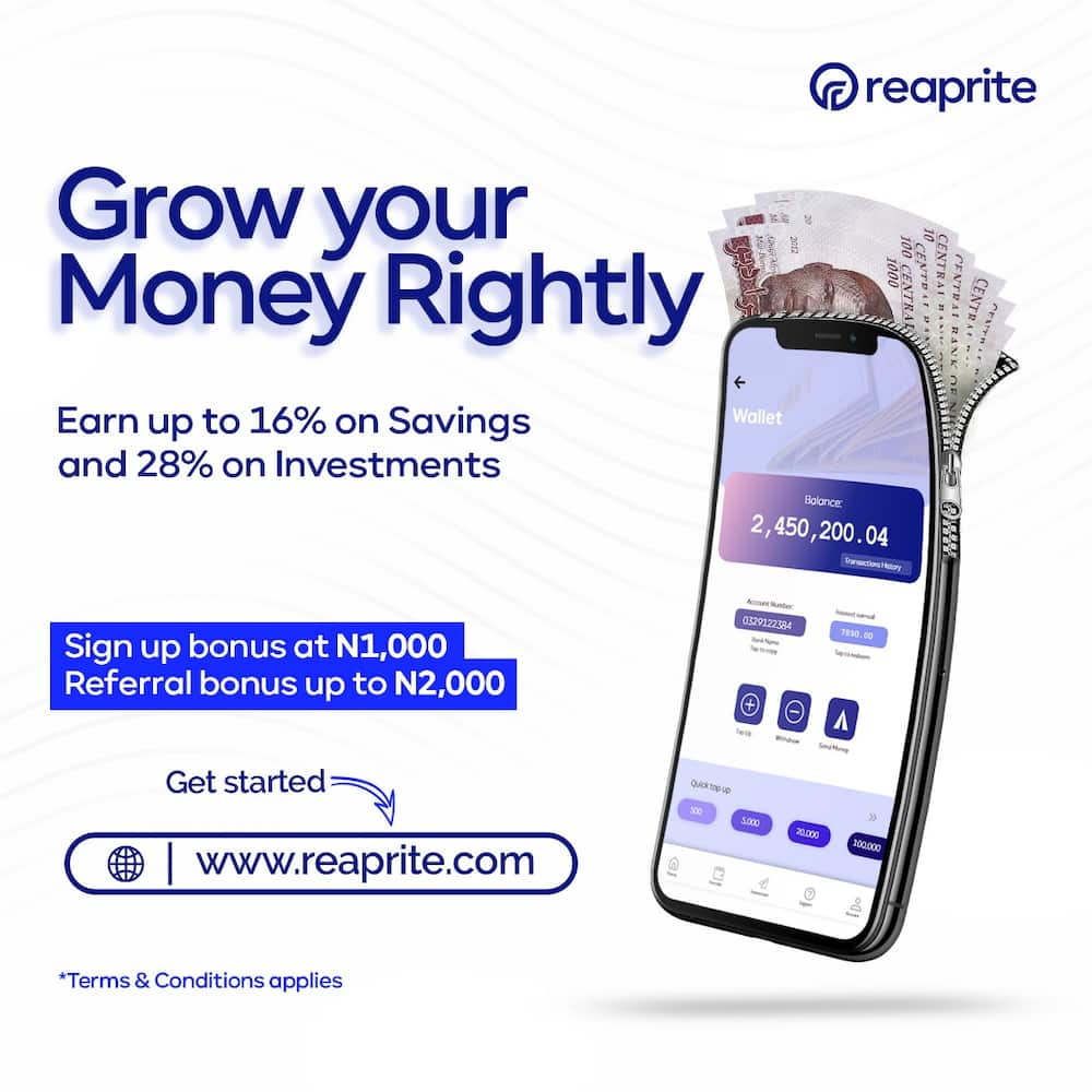 Reaprite: Your seamless savings and investment platform