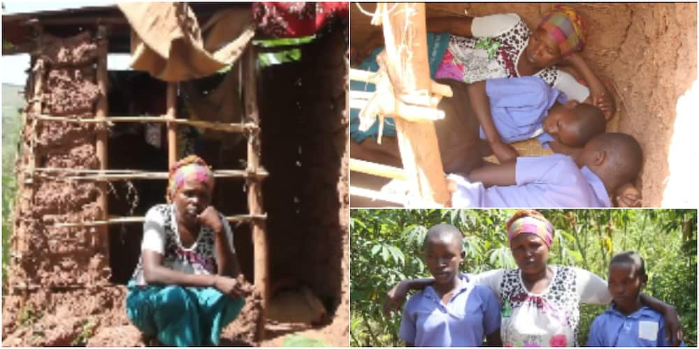 Meet woman and her kids who have been living in a toilet for 6 years, she shares horrible experience
