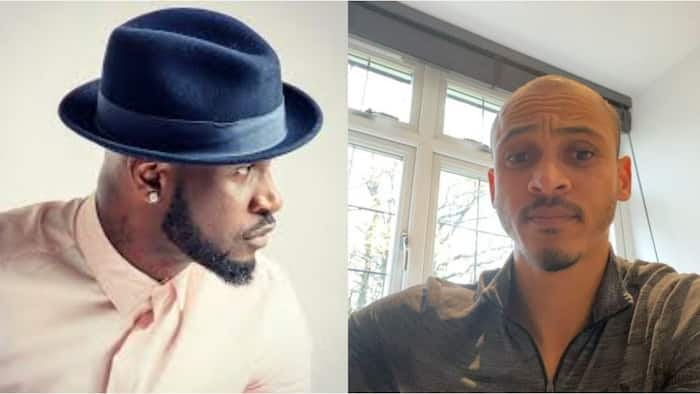 Super Eagles legend Odemwingie finally reveals what Peter Okoye did that made him angry (watch video)