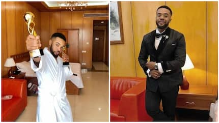 Starboy! Williams Uchemba bags two awards, a brand new SUV in one night (photo)