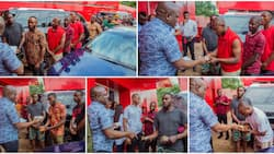 Reactions as Nigerian billionaire surprises 24 men who wash cars for a living, gives them huge wads of cash