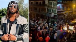 Paul Okoye shares video of massive crowd in Ghana vibing to his song as they march on the street