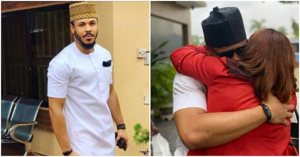 BBNaija 2020 evicted housemate Ozo finally reunites with mother (photo)