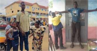 I Birthed him at 10 Months and Became Bedridden for 3 Months - Mom of the Tallest man in Volta Speaks
