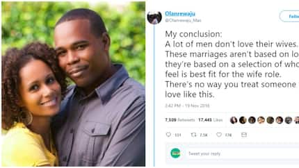 Nigerian man advises men, says they don't love their wives if they want them to leave high paying jobs