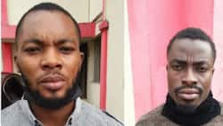 EFCC arraigns 2 young men for impersonating Anthony Joshua to scam ladies of N8.6m, shares photos online