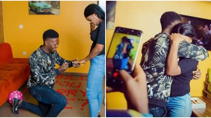 Shoot your shot 2019: Lady gets engaged after sliding into fiance's DM (photos)