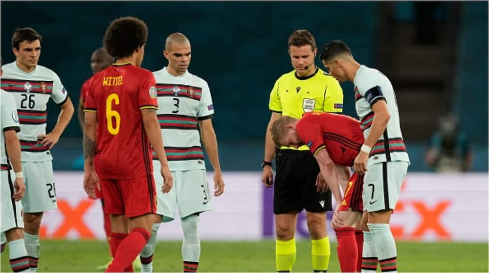 What Cristiano Ronaldo Did to De Bruyne After Belgium Star's Injury As Portugal Legend Shows Caring Side Again