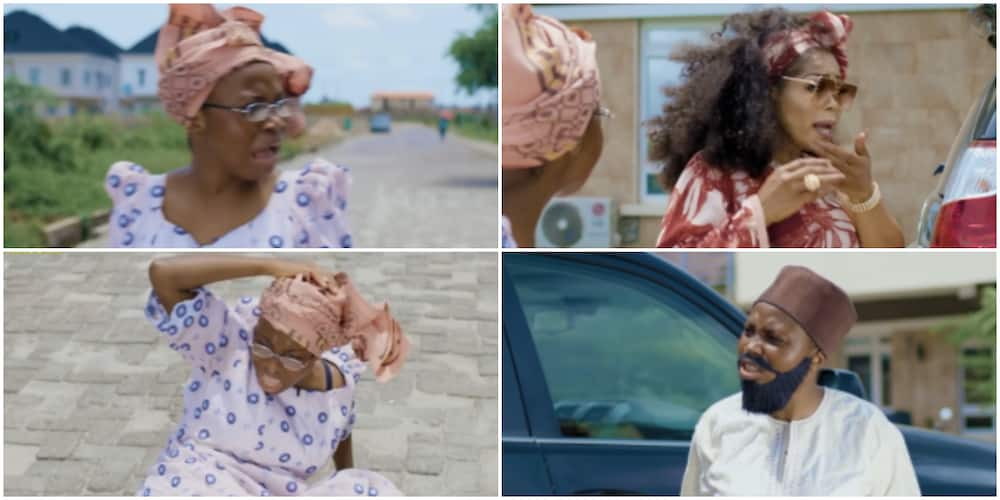 Comedian Taaooma Lands 50-Year-Old Shaffy Bello 'Hot Slap' in Hilarious Skit