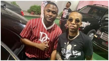 Ubi Franklin welcomes Tekno back to Nigeria after undergoing treatment for his damaged vocal box (photos)
