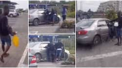 Nigerian man collects foods he bought for ladies at mall after they refused to follow him home in viral video