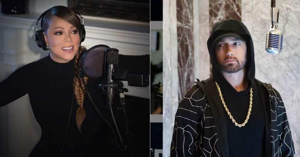 Mariah Carey, impersonates, Eminem, 12th anniversary, 'Obsessed'