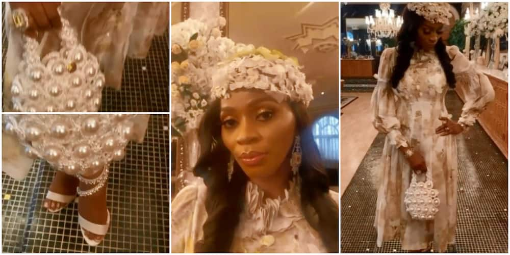 Billionaire Wife Shade Okoya Shows Off Stunning Outfit, Says Fashion Is Part of Daily Life