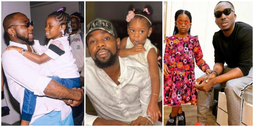 Davido, Bovi, 8 other celebrity 'girl dads' serving major fatherhood goals on social media