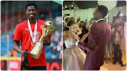 Nigerian football star who newly married Nollywood actress grooved to P-Squares 'No one like you' track