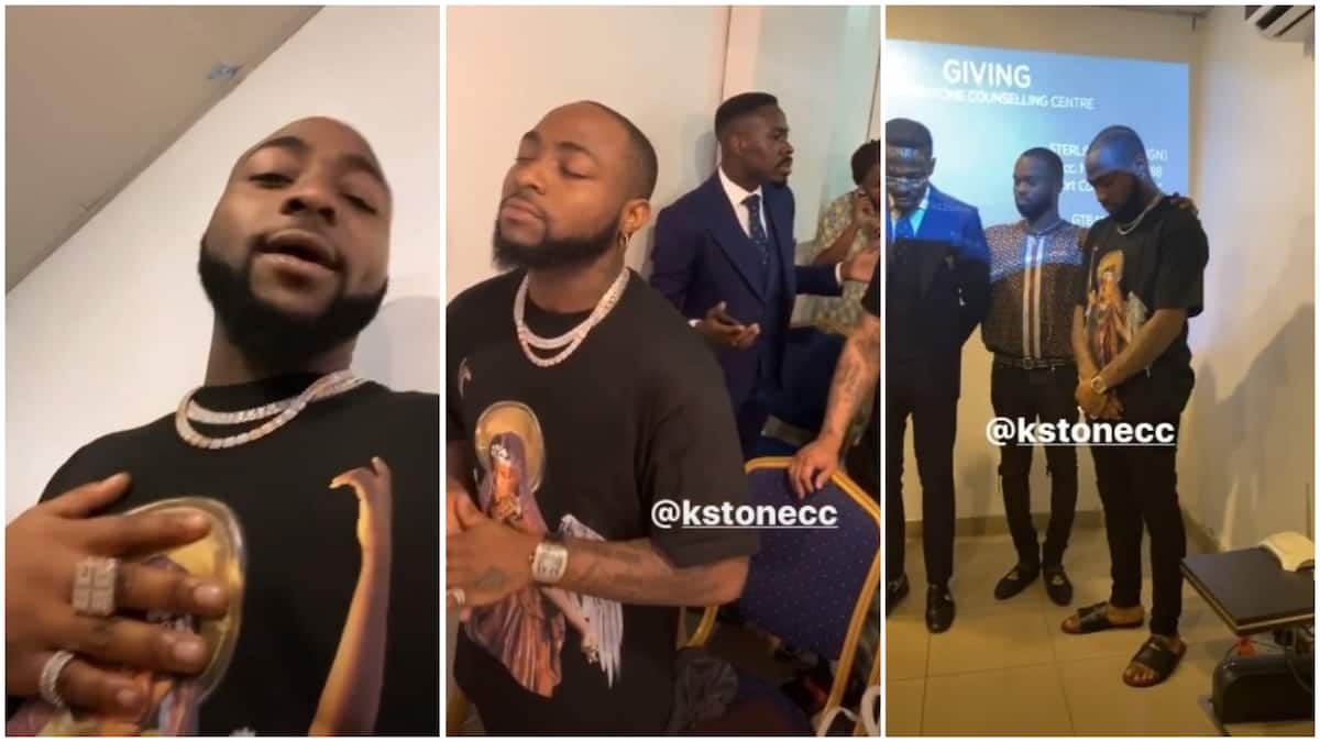 Video of Davido doing praise and worship in church cause stir on social media