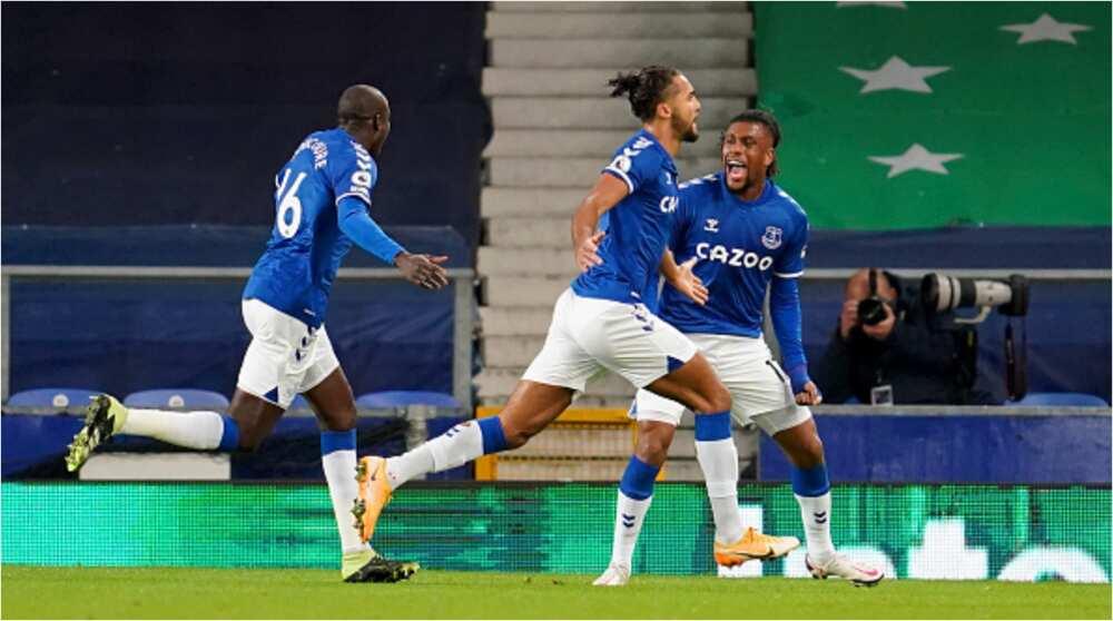 Emotional Alex Iwobi reacts after inspiring Everton to defeat his former darling club Arsenal