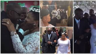 I have been deprived of love; 57-year-old Nigerian female pastor says as she finally weds lover in cute video