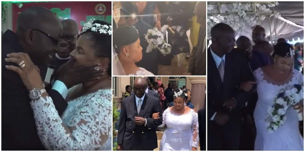 57-year-old female Nigerian pastor ties the knot with her man in beautiful video