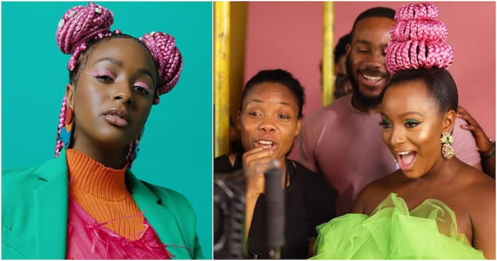 BBNaija 2020: Billionaire kid DJ Cuppy welcomes Kiddwaya after eviction from reality show (photos)