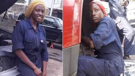 Meet beautiful and talented lady mechanic who is inspiring many in Abuja (photos)