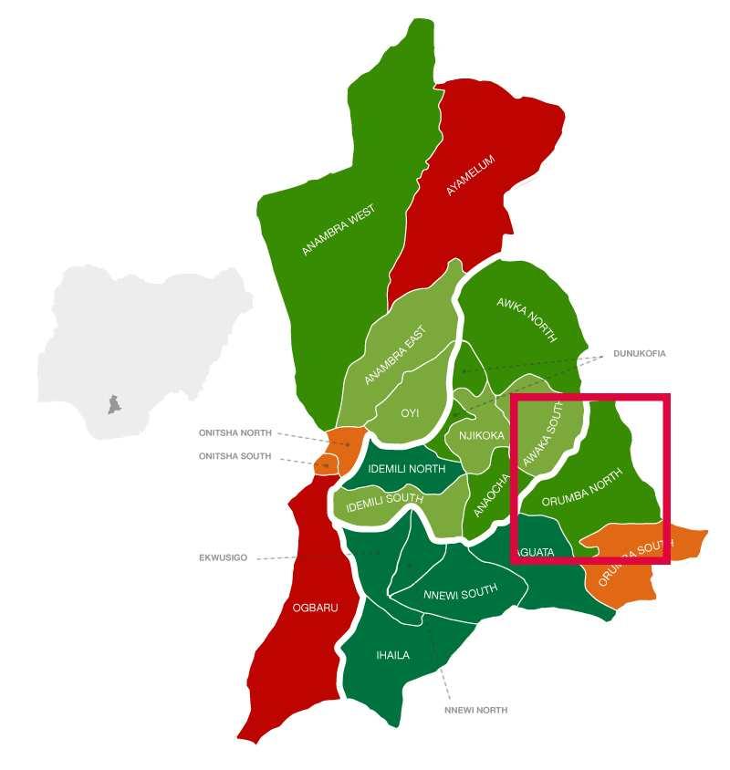 Orumba North location