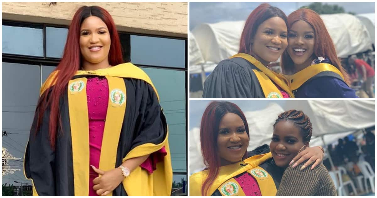 Elated graduate shares how depression, mum's death hindered her education