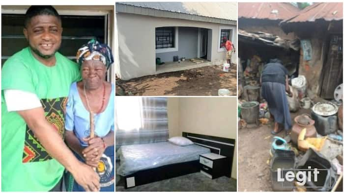 Nigerian Catholic priest builds house for 90-year-old woman after she kindly gave him 6 eggs