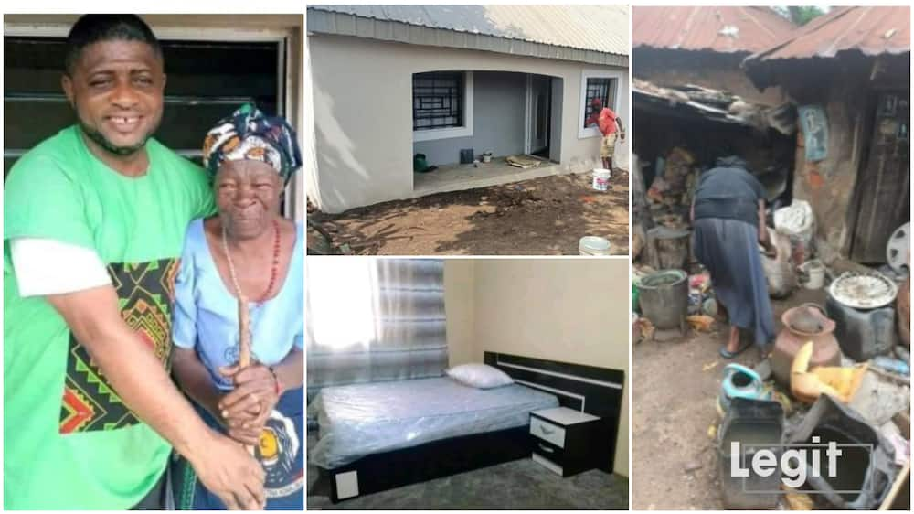 The 90-year-old widow was so happy when she saw her new house.