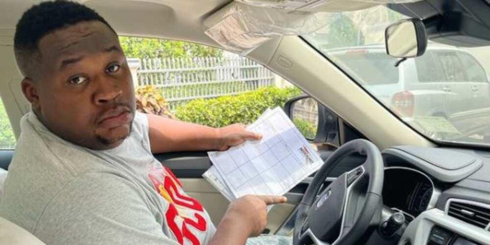 Celebrity barman Cubana Chiefpriest acquires new car, flaunts it on social media
