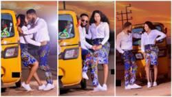 Keke love: Amazing pre-wedding photos of Nigerian couple go viral