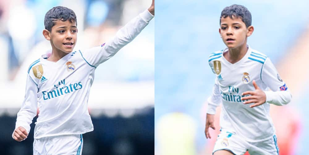 Ronaldo's son set to follow his father's footsteps as he joins Man United academy