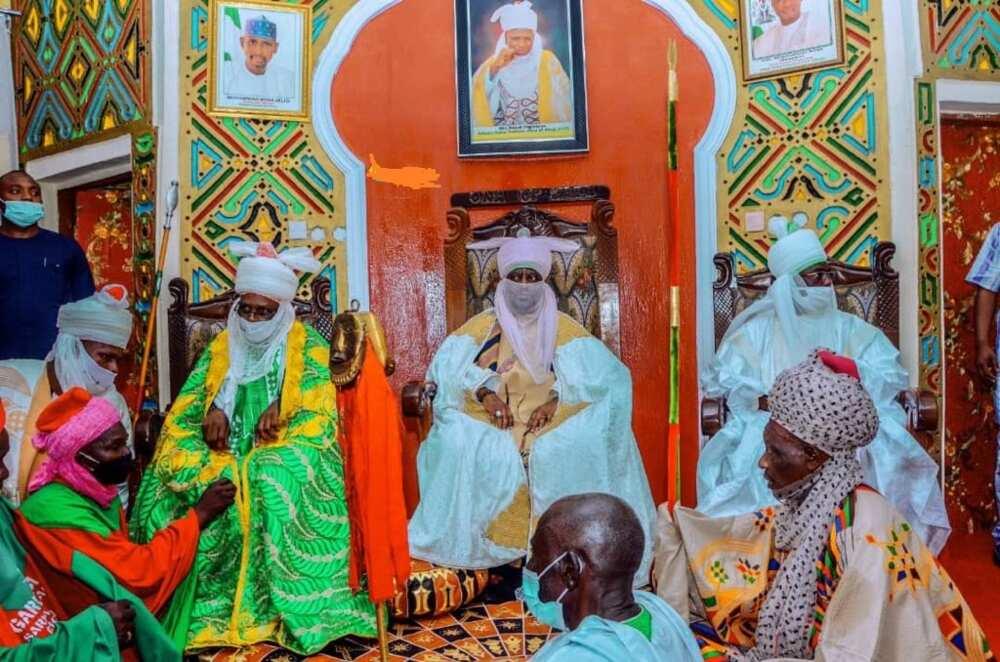 Sarki Aminu Ado-Bayero ya sake kai wa wani babban basarake ziyara (Hotuna)