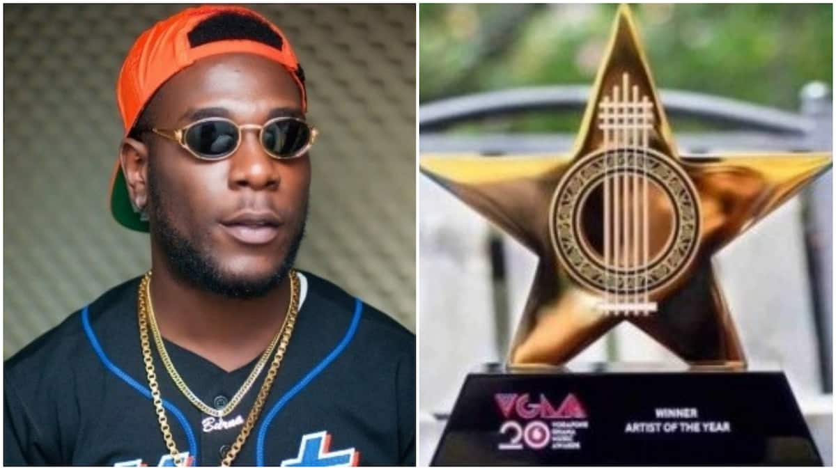 Burna Boy snags African Artiste Of The Year award at VGMA 2019