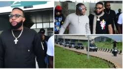 Kcee and Emoney arrive Anambra in grand style for burial of Obi Cubana's mother