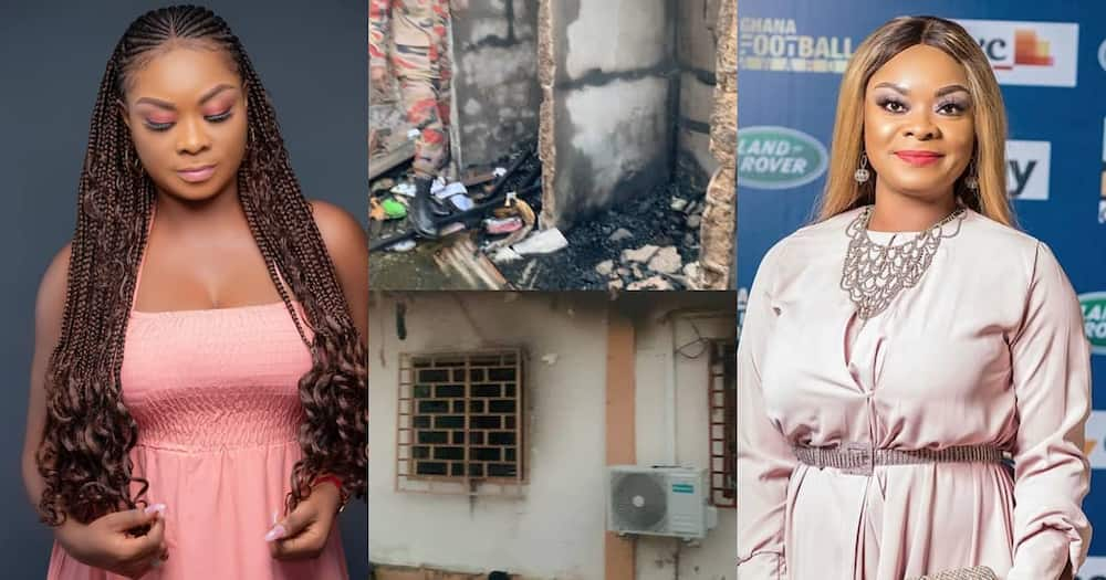 Beverly Afaglo's house burnt