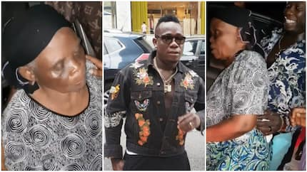Brand new Toyota Camry for our new mama - Top Nigerian singer says as he gifts elderly widow a car (videos)