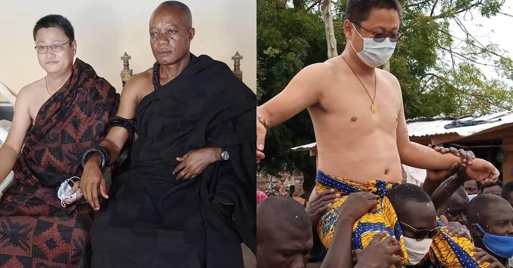 Chinese man crowned chief for development at Kwahu Abetifi