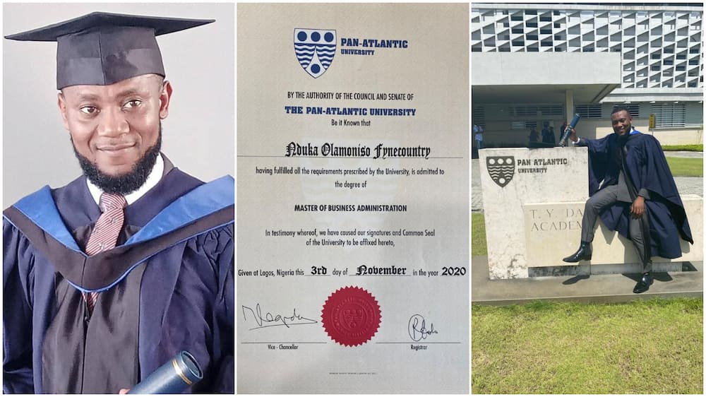 Nigerians man bags master's degreee, shares his amazing result, Nigerians react