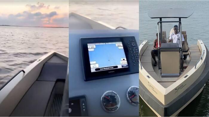 Super Eagles legend Obafemi Martins takes his N189m super yacht on a ride