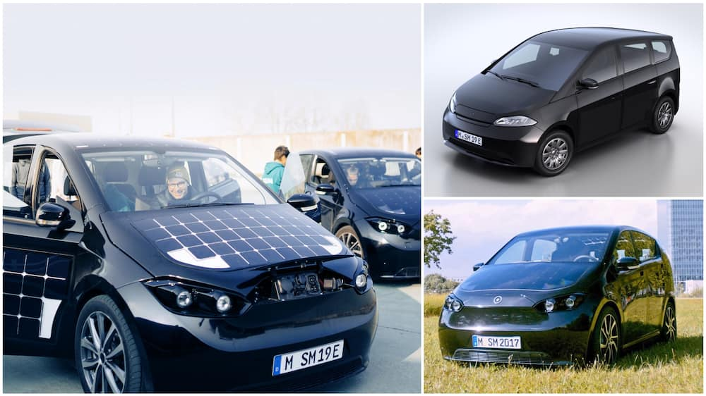 A collage of the solar-paneled car. Photo source: Sono Motors