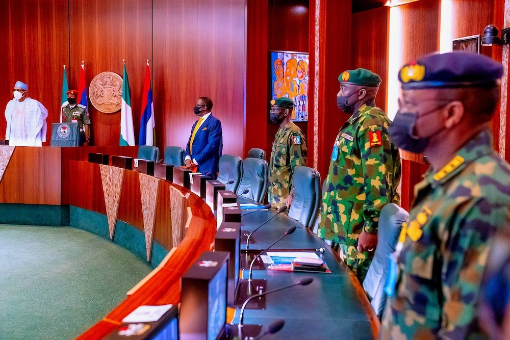 Da duminsa: Shugaba Buhari ya shiga zama majalisar tsaron Najeriya