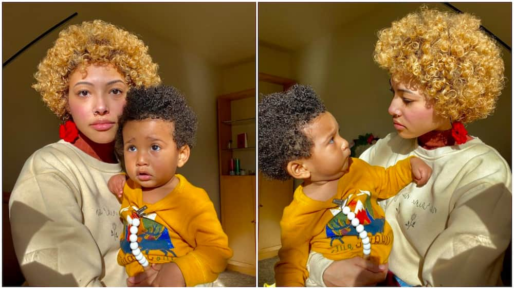 Lady stirs massive reactions online with photos of her baby