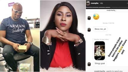 Mompha slams Nigerian actress, says she was 'born to be an online beggar'