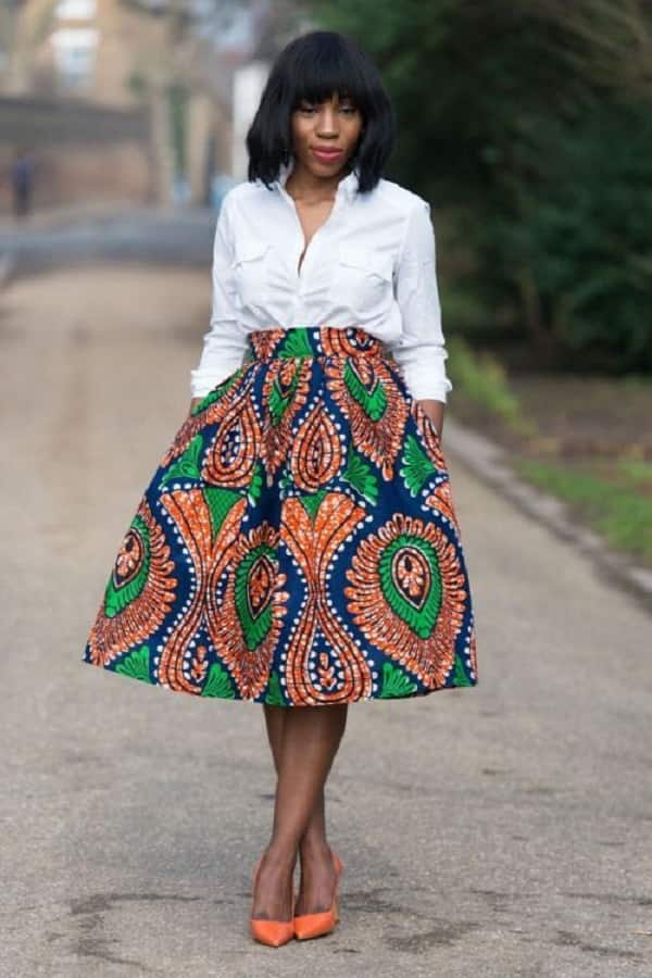 wide ankara skirt