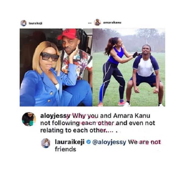 We are not friends - Laura Ikeji explains why she doesn't relate with Kanu's wife Amara