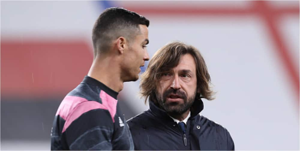What I told angry Ronaldo after subbing him - Pirlo defends decision