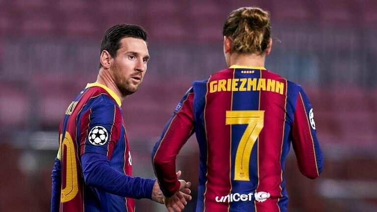 Lionel Messi da Antoine Griezmann