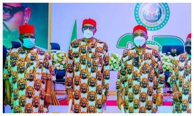 Buhari among some Igbo leaders and Governor Uzodinma